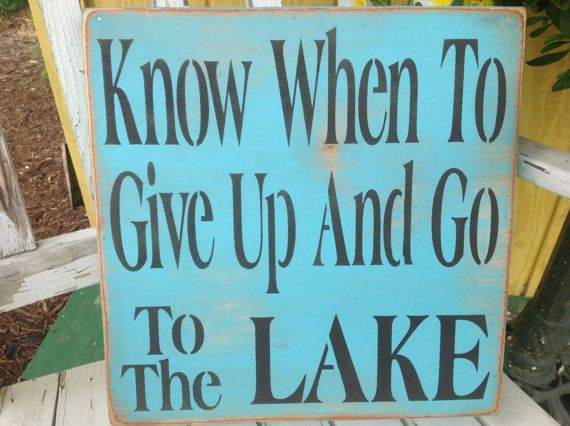 Lake sign, lake house sign,blue lake sign,primitive sign,welcome to the lake