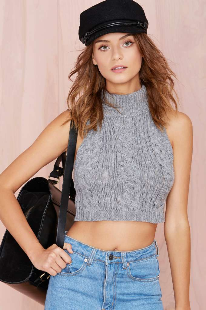 Got Cable Crop Sweater | Love this top & it has matching sweater shorts