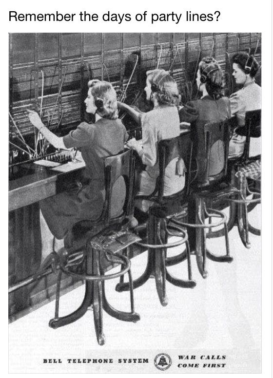 Old fashioned telephone exchange worker 18