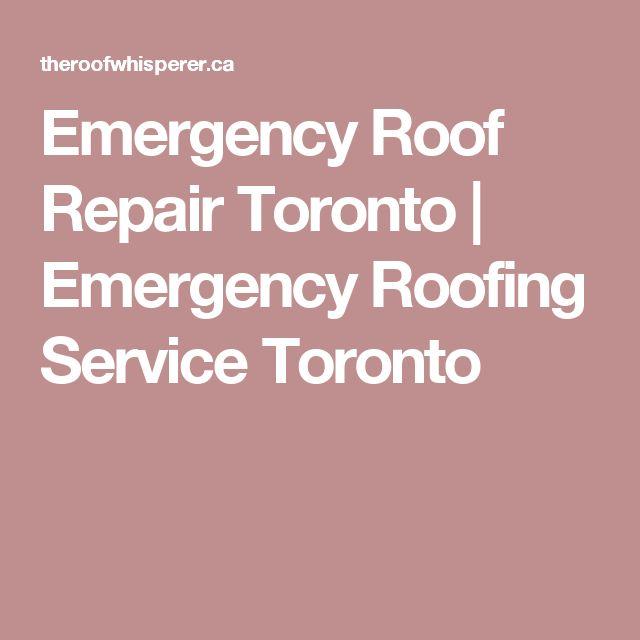 Emergency Roof Repair Toronto | Emergency Roofing Service Toronto
