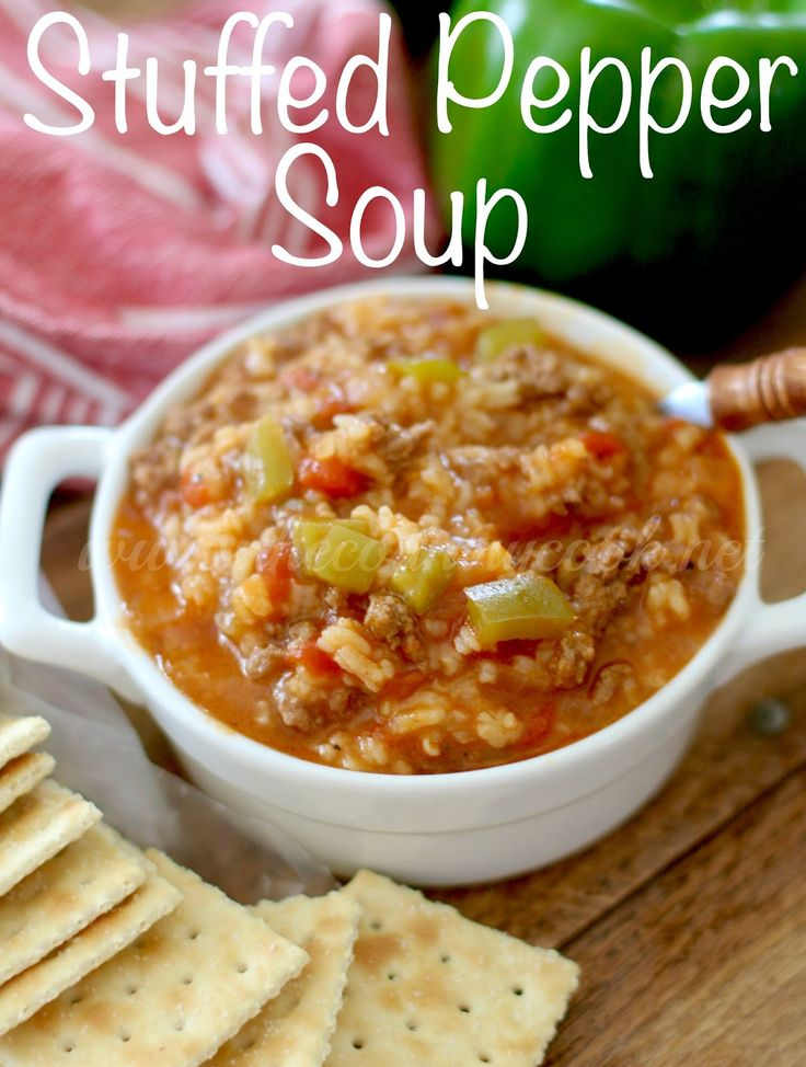 Stuffed Pepper Soup - The Country Cook