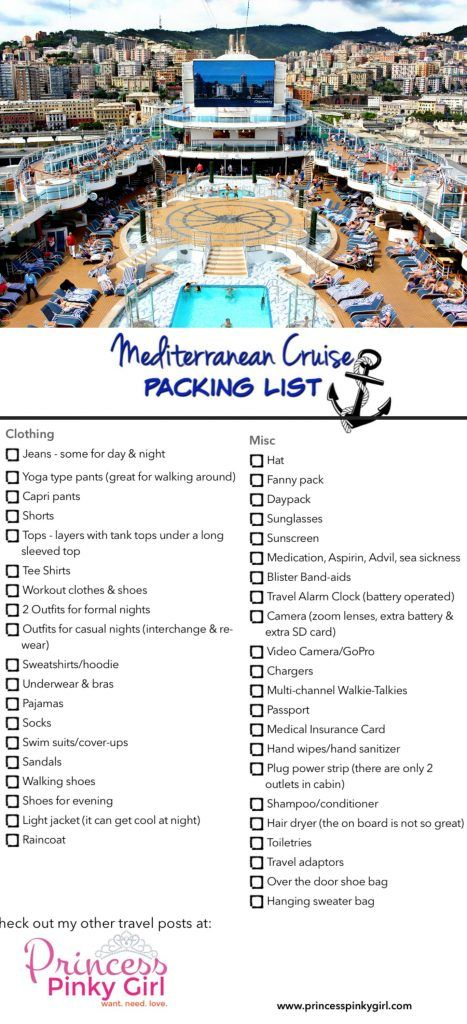 The 25 Best Cruise Packing Lists Ideas On Pinterest  Cruise Packing Ideas