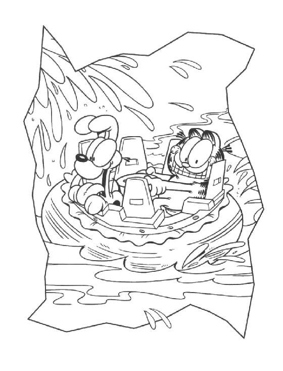 garfield 999 coloring pages