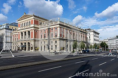 Musicverein - famous Concert - Music hall in Vienna, Austria, home of traditional Vienna Philharmonic's New Year's Day concert.