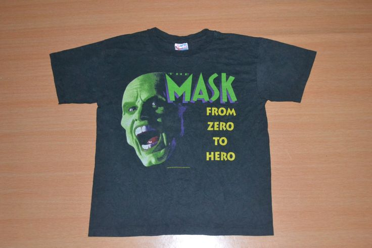Vintage 1994 THE MASK From Zero to Hero Jim Carrey superhero action comedy comic movie film indie Film T Shirt by OldSchoolZone on Etsy
