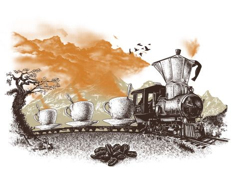 Coffee train on Gryphony - The CaffiNation