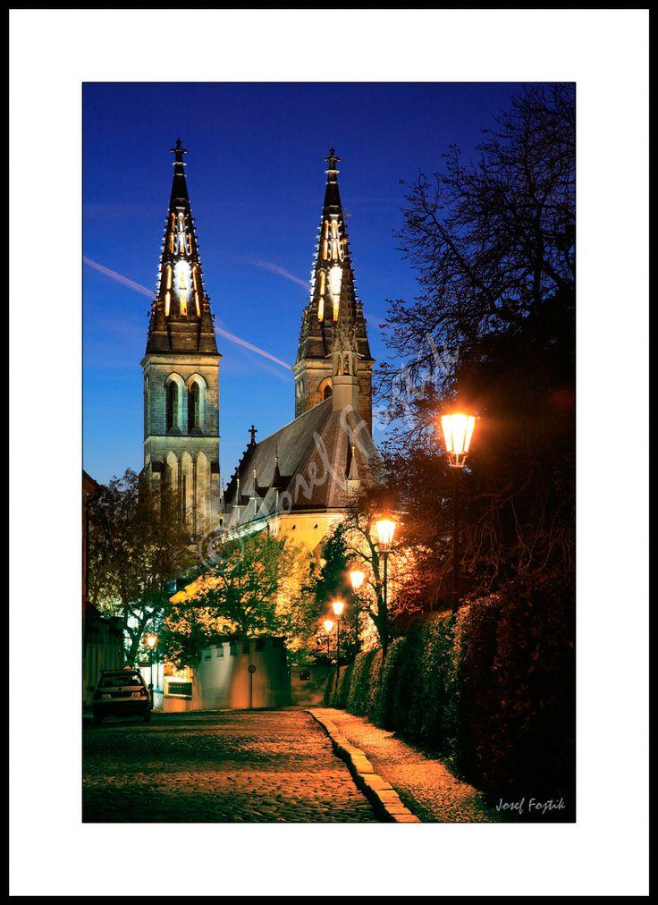 Fotoobraz - Kostel svatého Petra a Pavla na Vyšehradě, Praha, Česko. Foto: Josef Fojtík - www.fotoobrazarna.cz - https://www.facebook.com/Fotoobrazarna.cz?ref=hl