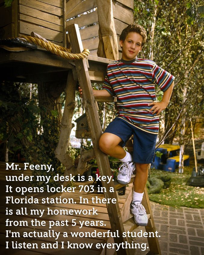 BLOG: In honor of BOY MEETS WORLD's 20th anniversary, some best loved quotes from Cory Matthews.