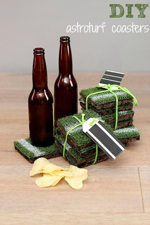 These Astroturf Coasters Are The Perfect Diy Gift For Sports Fan In Your Life
