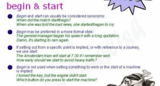 Begin y start