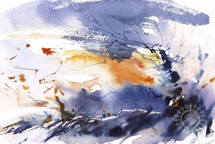 Check latest Contemporary artwork on NAKSHI by Adrian Homersham, from United Kingdom - Winter Trees Dusk is 18 x 27 x 0.1 CM unique creation with Watercolor on Paper