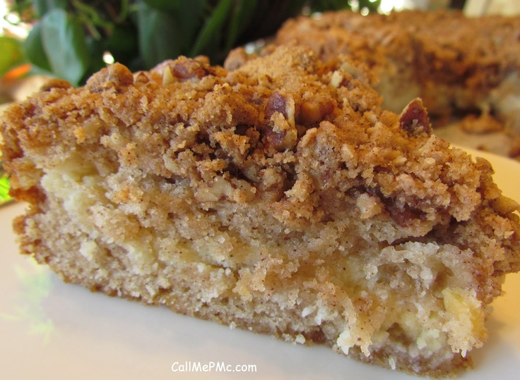 "Another pinner said says: ""I would fight until my death for the last piece of this Apple Cinnamon Coffee Cake"" so it must be good."