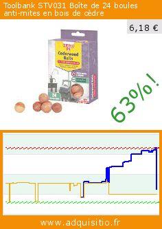 Toolbank STV031 Boîte de 24 boules anti-mites en bois de cèdre (Jardin). Réduction de 63%! Prix actuel 6,18 €, l'ancien prix était de 16,54 €. https://www.adquisitio.fr/toolbank/boules-c%C3%A8dre-anti-mites-x