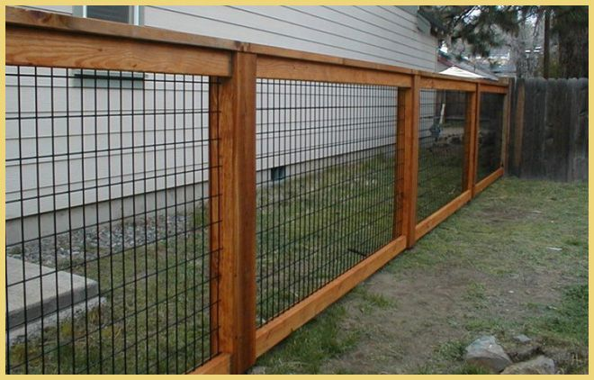 Wire Panel With Wood Frame Fencing Pinterest Wire