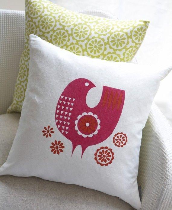 Folk pillow on Etsy.