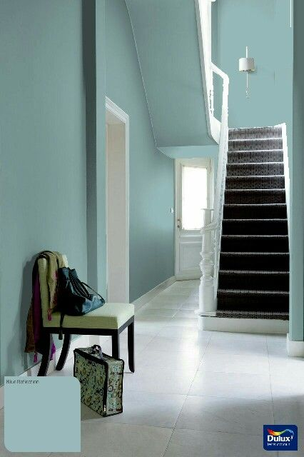 Dulux Blue reflection  Home Decor in 2019  Hallway paint
