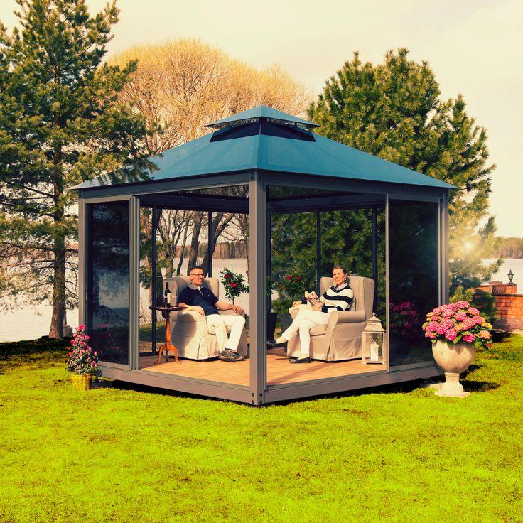 Lucia-lasipaviljonki® - voit nauttia kesästä ja luonnosta ilmoista riippumatta! #www.lasipaviljonki.fi