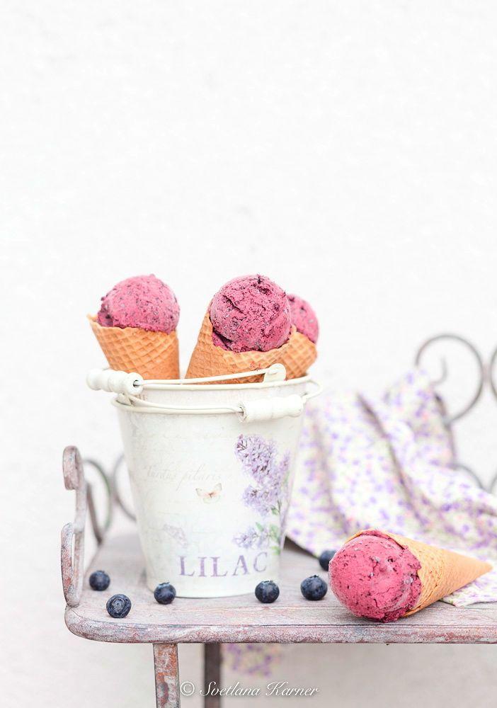 Blueberry Ricotta Ice Cream Recipe