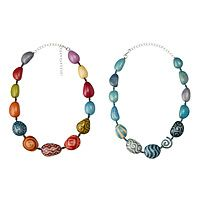 Tagua Batik Necklaces from uncommon goods