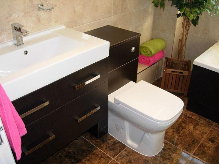Large basin on 'floating' cabinet with matching cistern housing.  http://www.ppmsltd.co.uk