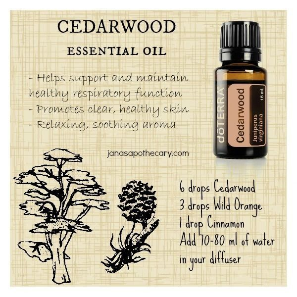 Cedarwood Essential Oil Diffuser Blend