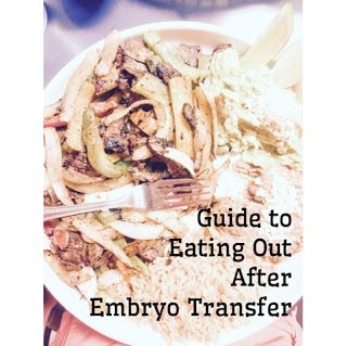 Foods to eat after Frozen Embryo Transfer. Eating out during IVF or FET. IVF safe foods.