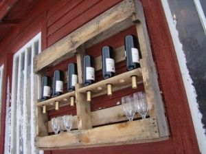 Recycled Wine Rack pallet  Created by TheGoAwayWoodshop by chrisjgregg