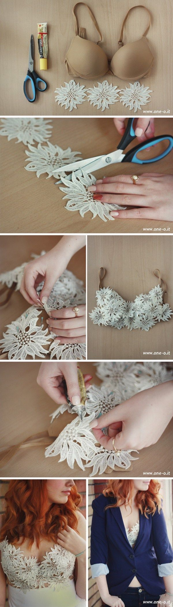 DIY Easy Lace Bra Top.