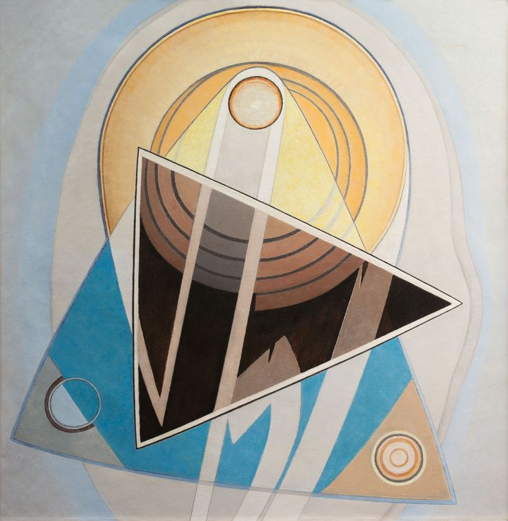 """Lawren Harris,Cdn (1885-1970), G7, RCA, OC, """"Geometric Composition / Biomorphic Composition"""", Double sided Oil on Canvas (41x40 in) circa 1938 at Art Toronto 2015 at the Mayberry Fine Art Booth A49"""
