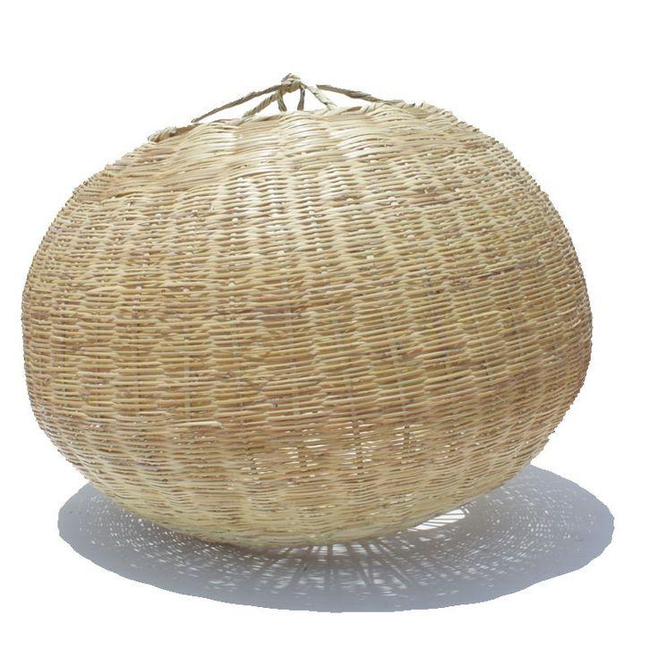 luminaire boule osier 80 cm panier marocain - Luminaire Boules Colores