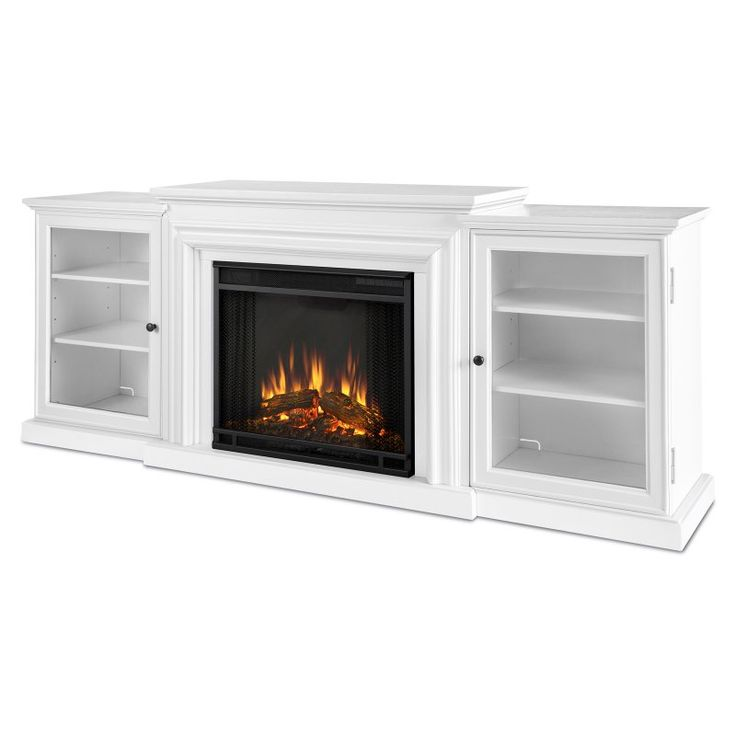 Real Flame Frederick Entertainment Center Electric Fireplace - Blackwash - 7740E-