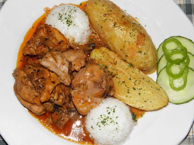 Karcsi főzdéje: Hagymás csirkecomb gombával