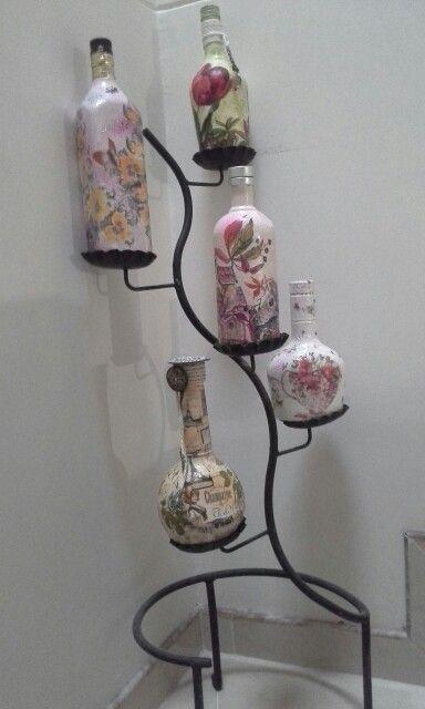 Botellas decorativas vintage
