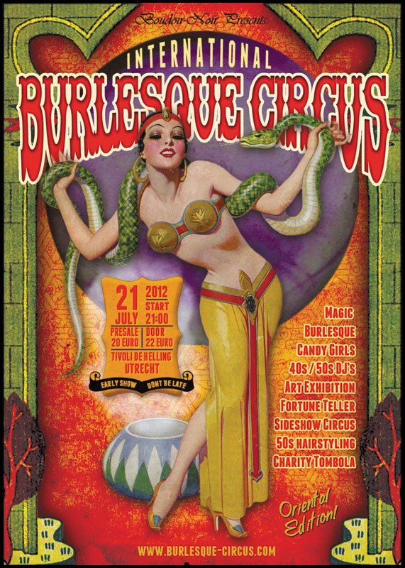The Oriental edition of the International Burlesque Circus 21/07/2012