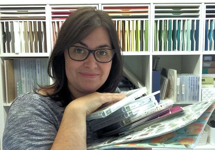 Love the paper organizer Sarah has on her shelves that look like IKEA Expedition/Kallax!!!   Sarah Berry Stampin' Up! UK Independent Demonstrator
