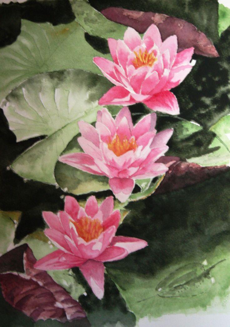 My version of Water Lilies Jan Rowe