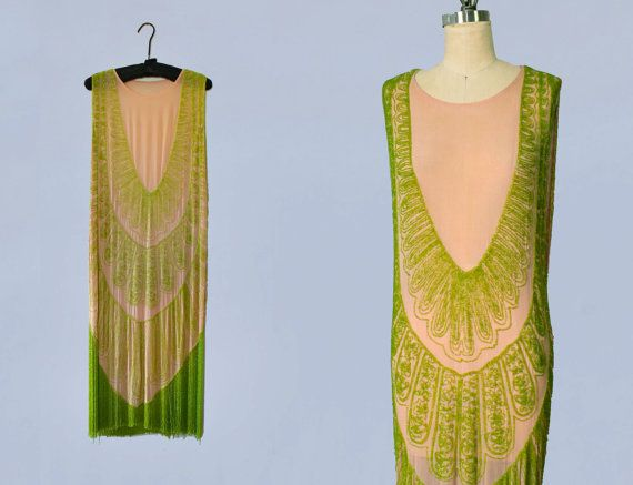 RARE 1920s Dress / 20s Flapper Dress BEADED / by GuermantesVintage