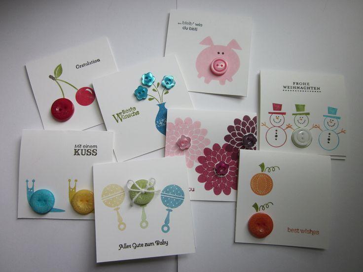 #stampin up - Button Buddies - Kleine Wünsche - Karten - Geburtstag