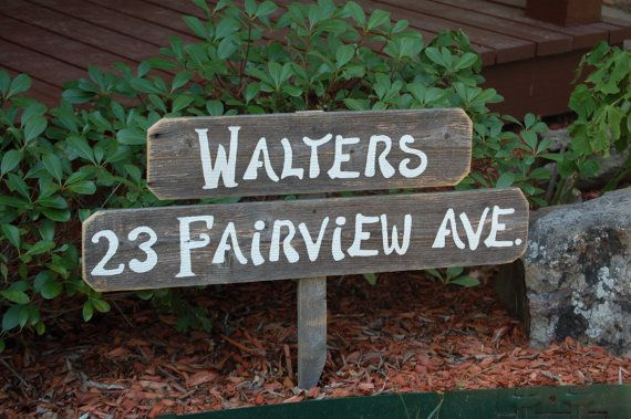 Home Address Sign. Welcome Sign Personalized Gift Yard Sign Name Farm Sign Yard Sign Reclaimed Wood Signs. Hand Painted Sign Home and Garden...