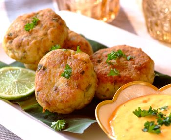 Durban fish cakes is the perfect recipe with tumeric. Find these and other tumeric recipes on EatOut