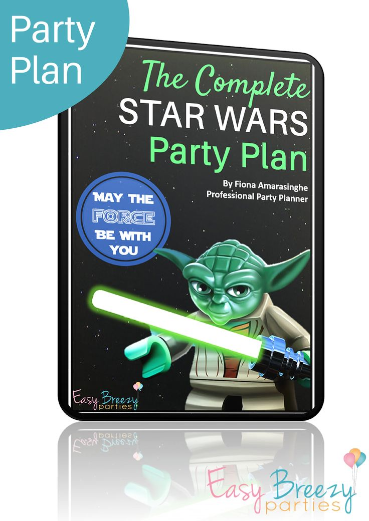 The Complete Star Wars Party Plan! With instructions for amazing party decoration, games, food and running a Jedi Academy, this party plan provides everything you need to host an epic Star Wars party that everyone will love... without the crazy party stress! #easybreezyparties