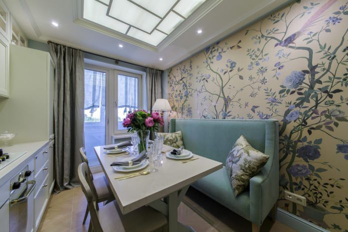Классика дизайна – светлая кухня 10 м.кв. в стиле прованс
