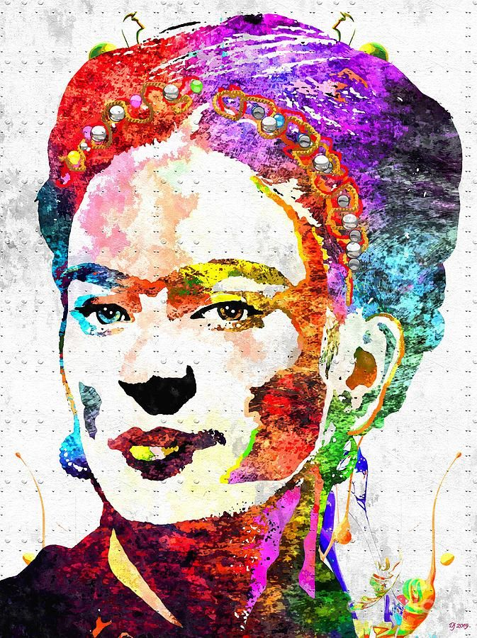 mixed media frida kahlo painting - Google Search