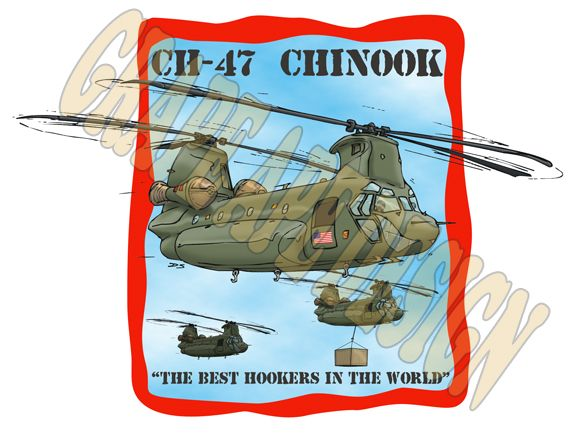 Chinook military helicopter cartoon