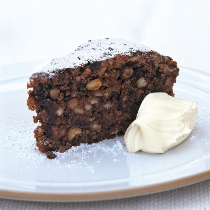 Happy italian chocolate nut christmas cake