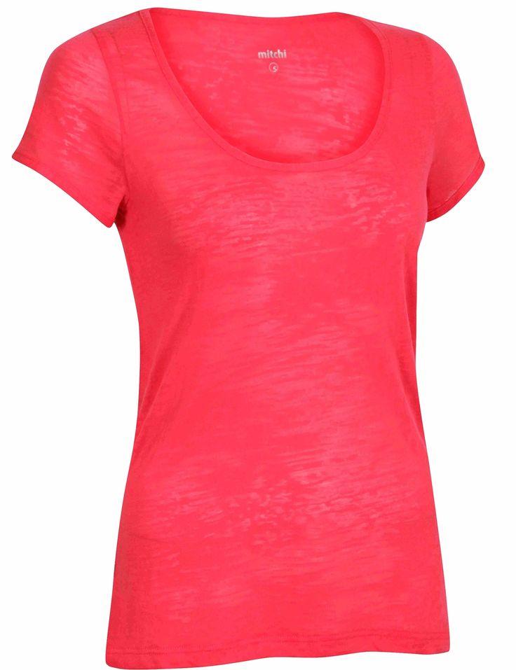 1262-06-0   Tshirt fra Mitchi til treningen - XS Herlig myk mikrofiber i fresh farge