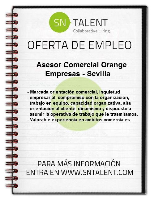 #Asesor #Comercial Orange Empresas en #Sevilla