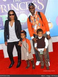 Angela Bassett and Courtney B. Vance with their kids
