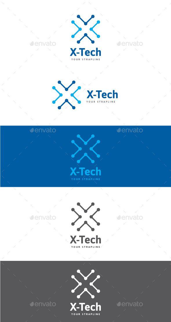 X-Tech Letter X Logo - Letters Logo Templates