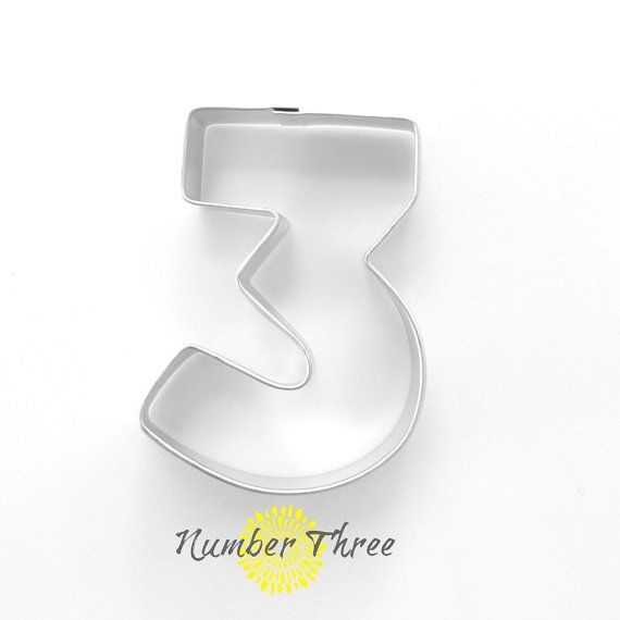 Number 3 Cookie Cutter  Number Three Cookie by TheButtercupHouse